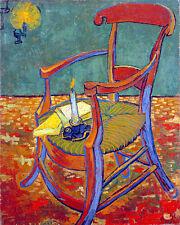 Gauguins Chair by Vincent van Gogh A1+ High Quality Art Print