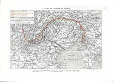 WWI Map Carte Mouvement Opération Italie Italia Italy Offensive ILLUSTRATION