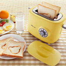 2 Slice Wide Slot Cool Touch Toaster Bread Auto Maker Stainless Steel Home 220V
