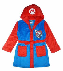 Super Mario Boys Mario Costume Plush Robe Size 4/5 6/7 8 10/12