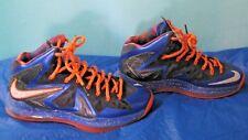Nike Lebron James 10 X P.S. Elite Superhero 579827-400 Size 9 Blue/Orange