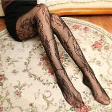 Black Women Lace Socks Sexy Stockings knee Thigh High Stay Up Socks Pantyhose