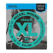 D'ADDARIO EXL158 NICKEL BARITONE LIGHT, 13-62 electric GUITAR STRINGS  2 PACK