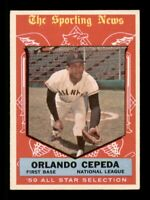 1959 Topps Set Break # 553 Orlando Cepeda All Star VG-EX *OBGcards*