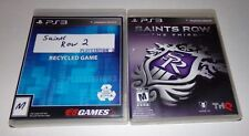 PS3 games Saints Row 2 & 3 Second & Third