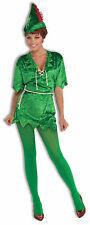 Womens Peter Pan Adult Costume Fairy Tale Renaissance Green Tunic Size XS/SM