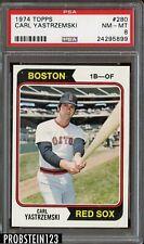 1974 Topps #280 Carl Yastrzemski Boston Red Sox HOF PSA 8 NM-MT