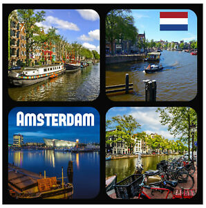 Amsterdam Sites - Amusant Nouveauté Souvenir sous-Verre - Ensembles De 4,6 Ou 8