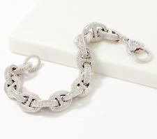 "Judith Ripka Verona Sterling Diamonique Bracelet 6-3/4"" Fit: QVC $375"