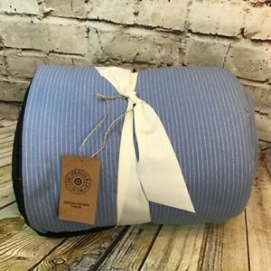 """Levi's x Target Limited Edition 50""""x60"""" Sherpa Backed Light Blue Throw Blanket"""