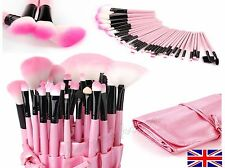 32 piece Professional Salon Kabuki cosmetic make up brush set in case PINK SALE