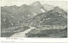SALUTI DA CLAUT - VEDUTA DEI PRIMI DI NOVEMBRE DEL 1905 (PORDENONE) VG.1906