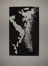 HARTUNG Hans Gravure sur bois signée 1976 Abstraction Lyrique Art Imformel