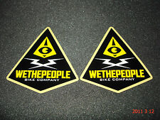 2 AUTHENTIC WETHEPEOPLE BIKE COMPANY BMX WTP STICKERS / DECALS #41 AUFKLEBER
