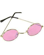 New Pink Hippie Girl Funky Retro 70s Costume Glasses
