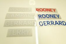 Football Name Transfers SPORTING iD - ROONEY/GERRARD/LAMPARD/TERRY -