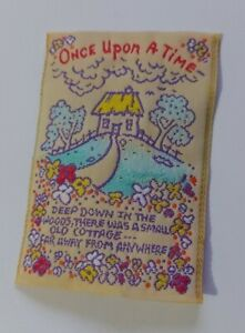 Once Upon A Time Vintage Sew In Patch Tag Label Fairytale Cottage clothing bag