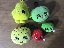 Shopkins Plush KeyRings Bundle X5 Joblot Soft Toy Pram Clip Bag Charm