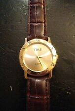 Vintage Time unisex watch, new band running with new battery no Reserve