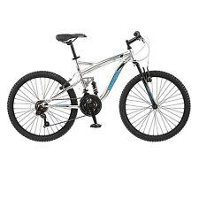 """Mongoose 24"""" Boys Status 2.2 Bike Cycling Men Full Suspension Mountain Bicycle"""