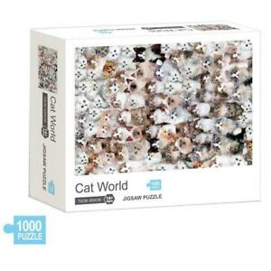 Cats 1000 Pieces Puzzles Attractive Adults Puzzles Jigsaw Toy Puzzle Y4F3