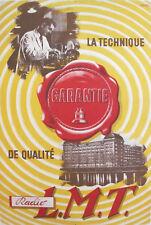 1930'S FRENCH VINTAGE ART DECO RADIO POSTER, TECHNIQUE GUARANTIE LMT