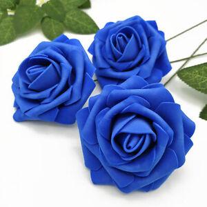 25 Artificial Flowers Rose Floral Bridal Wedding Bouquet Home Party Decoration