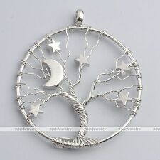 1pc Fashion Moon Star Copper Wire Wrap Charms Pendant For Necklace DIY Jewelry