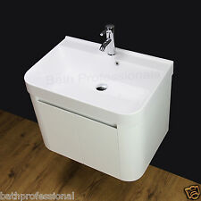 Vanity Unit Cabinet Basin Sink Bathroom Wall Hung Cloakroom 700 MM Tap Waste
