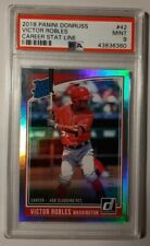 2018 Panini Donruss Career Stat Line #42 Victor Robles Rc #452/458 PSA 9 Mint