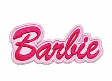 "Barbie Script Logo Iron/Sewn On Embroidered 3"" Patch"