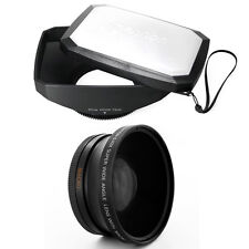 72mm 16:9 Hood + Wide Angle Lens for Sony DSC-HX1, HDR FX1,HDR-FX1000,HVR-Z5 Z5U