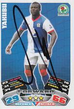 Blackburn ROVER mano firmato yakubu MATCH ATTAX CARD 11/12.