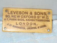 Leveson & Sons English Furniture Label