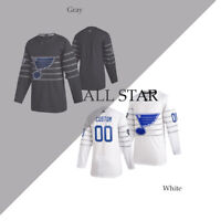 Custom All-Star St. Louis Blues Gray Jersey 2020 Blank