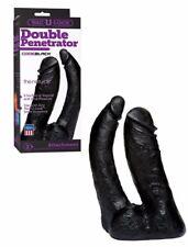 fallo nero doppio realistico vaginale anale indossabile strap on vac u lock sexy