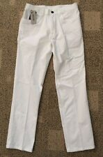 Reaction Kenneth Cole Mens Stretch Slim Fit Pants White Size 36 X 32 KC00053