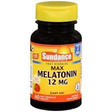 Sundance Vitamines Max Mélatonine 12 MG Comprimés Naturel Baie Parfum - 60 TB