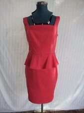 Sexy NEW strawberry Sz 10 zip rear fitting almost knee-length dress, Was $99.95