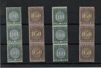 1929 REGNO MARCHE DA BOLLO SCAMBI COMMERCIALI TASSA LUSSO 12 VALORI MNH G.I**