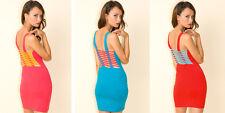 Motel rocks - Motel Lesley Bodycon Caged Dress in Light Blue Size S  (10)