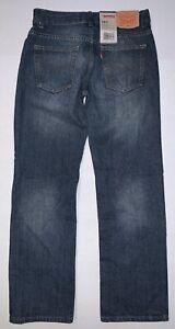 NWT LEVI'S 505 boys jeans sz 14 Reg 27x27 dark wash denim