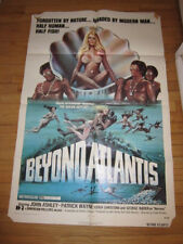 BEYOND ATLANTIS original 1973 poster fantasy John Ashley Patrick Wayne Sid Haig