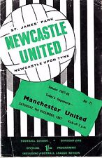 Vintage Newcastle United v. Man. United - 9/12/1967(Acceptable Condition)