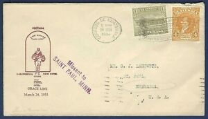 SS SANTA LUCIA Grace Line Paquebot Maiden Voyage Naval Cover 1933 Guatemala