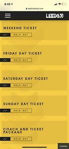 leeds festival ticket Saturday