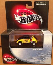 100% Hot Wheels Car limited Edition 1933 WILLYS 1:64 die cast NEW