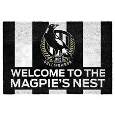 Collingwood Magpies AFL PVC Backed Front Door Mat