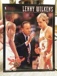 HOOP Print---LENNY WILKENS Boston Celtics vs. Atlanta Hawks   December 10, 1995