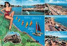 Cartolina Viserba Riviera Adriatica Pin up Vedutine